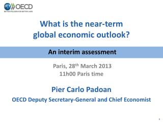 What is the near-term  global economic outlook?
