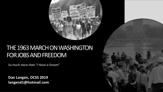 The 1963 March on Washington for Jobs and Freedom
