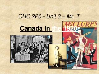 CHC 2P0  - Unit 3 – Mr. T