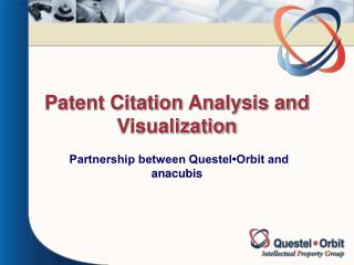Patent Citation Analysis and Visualization