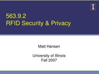 563.9.2 RFID Security & Privacy