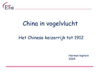 China in vogelvlucht