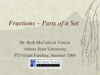 Fractions – Parts of a Set