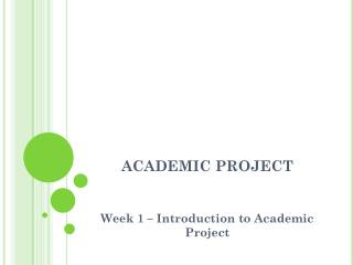 ACADEMIC PROJECT