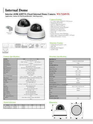 "Camera Feature • 1/3"" Sony Super HAD II CCD Sensor • Humming Bird DSP • 620TVL High Resolution"