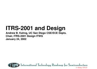Design ITWG Contributions to ITRS-2001