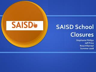 SAISD School Closures