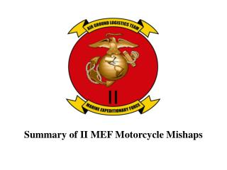 Summary of II MEF Motorcycle Mishaps