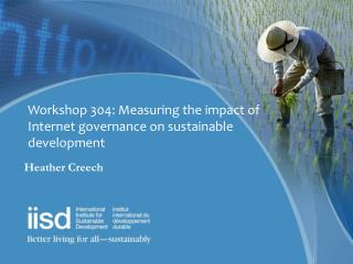 Workshop 304: Measuring the impact of Internet governance on sustainable development
