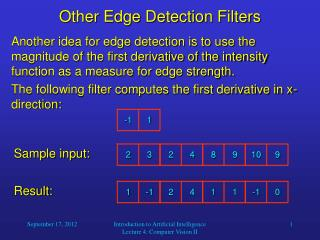 Other Edge Detection Filters