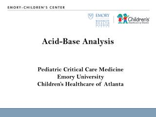 Acid-Base Analysis