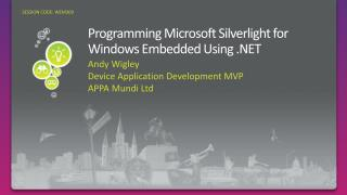 Programming Microsoft Silverlight for Windows Embedded Using .NET