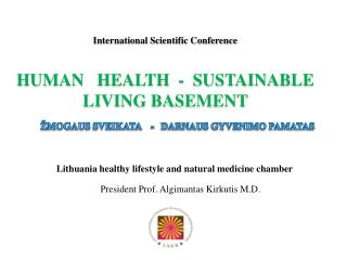 Lithuania healthy lifestyle and natural medicine  c hamber