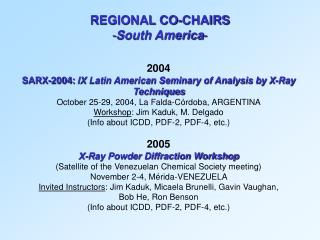 2004 SARX-2004:  IX  Latin American Seminary of Analysis by X-Ray Techniques