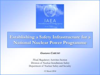 Establishing a Safety Infrastructure for a National Nuclear Power Programme