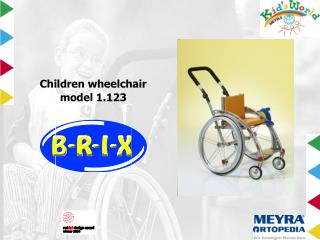Children wheelchair model 1.123