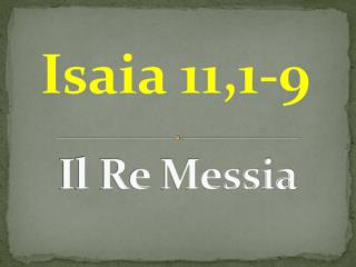 Il Re Messia