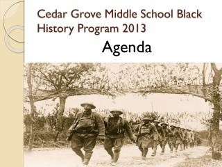 Cedar Grove Middle School Black History Program 2013