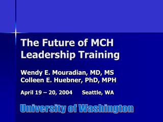 The Future of MCH Leadership Training