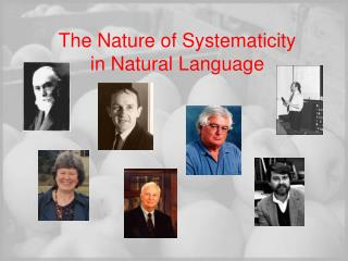 The Nature of Systematicity  in Natural Language