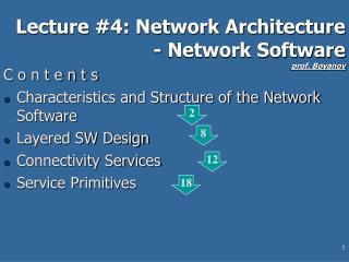 Lecture #4: Network Architecture - Network Software prof. Boyanov
