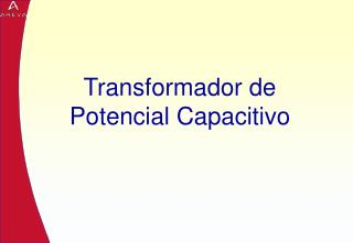 Transformador de Potencial Capacitivo