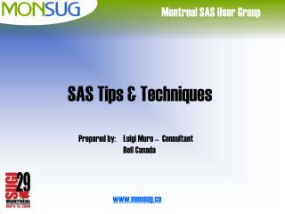 SAS Tips & Techniques