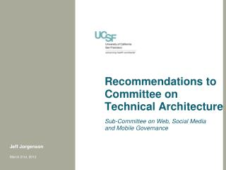 Recommendations to Committee on Technical Architecture