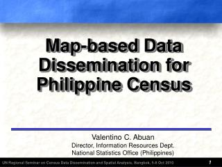 Map-based Data Dissemination f or Philippine Census