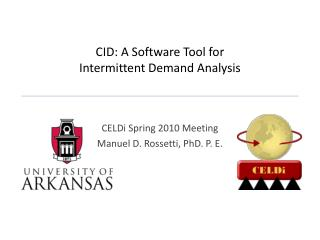 CID: A Software Tool for  Intermittent Demand Analysis