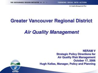 Greater Vancouver Regional District Air Quality Management