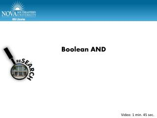 Boolean AND
