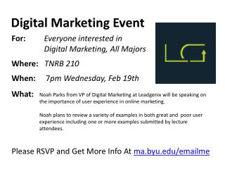 Digital Marketing Event