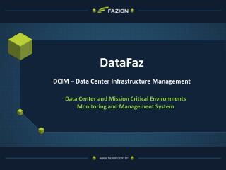 DataFaz DCIM – Data Center  Infrastructure  Management