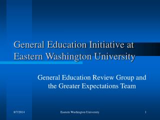 General Education Initiative at Eastern Washington University