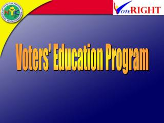 Voters' Education Program