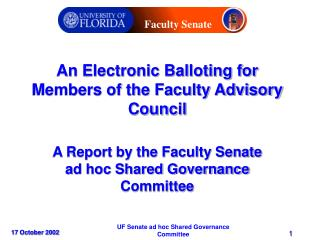 An Electronic Balloting for Members of the Faculty Advisory Council