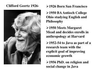 Clifford Geertz 1926-