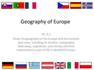 Geography of Europe