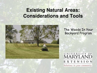Existing Natural Areas: Considerations and Tools