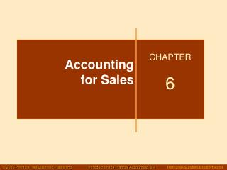 Accounting  for Sales