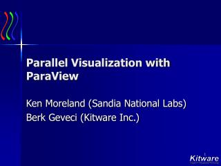Parallel Visualization with ParaView