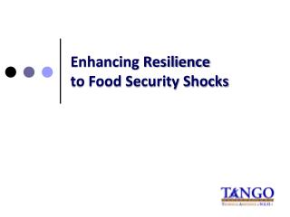Enhancing Resilience  to Food Security Shocks
