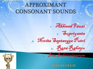 APPROXIMANT CONSONANT SOUNDS
