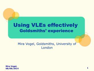 Mira Vogel, Goldsmiths, University of London