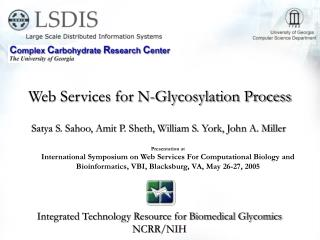 Web Services for N-Glycosylation Process