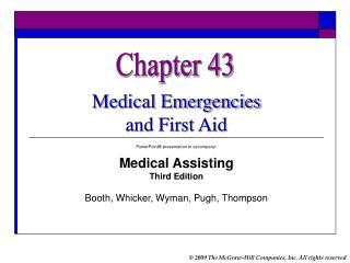 Medical Emergencies  and First Aid