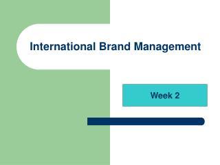 International Brand Management
