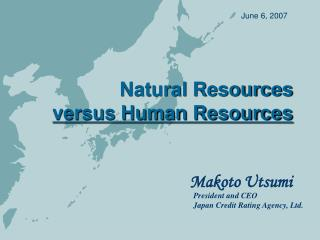 Natural Resources versus Human Resources
