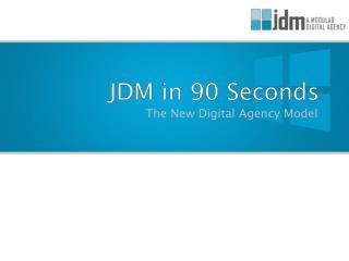 JDM in 90 Seconds